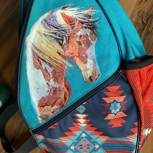 NWT Kavu Paxton bag with wild horse mustang paint